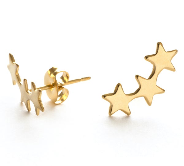 Image of Amano Gold Star Cluster Stud Earrings