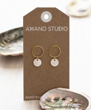 Image of Amano Mother of Pearl Playa Stud Earrings