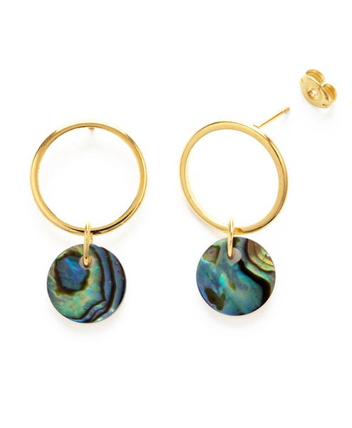Image of Amano Abalone Playa Stud Earrings