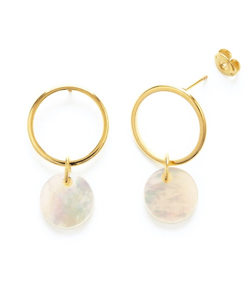 Image of Amano Mother of Pearl Playa Stud Earrings