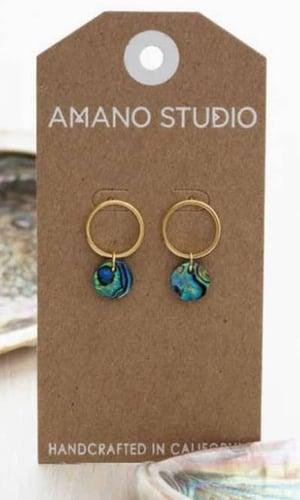 Image of Amano Abalone Playa Stud Earrings