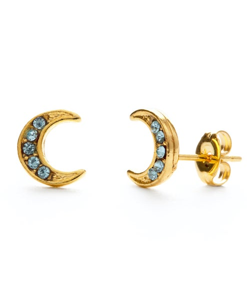 Image of Amano Blue Moon Stud Earrings