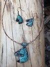 Turquoise Horse Necklace
