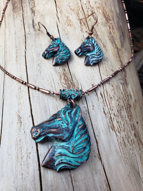 Image of Turquoise Horse Necklace