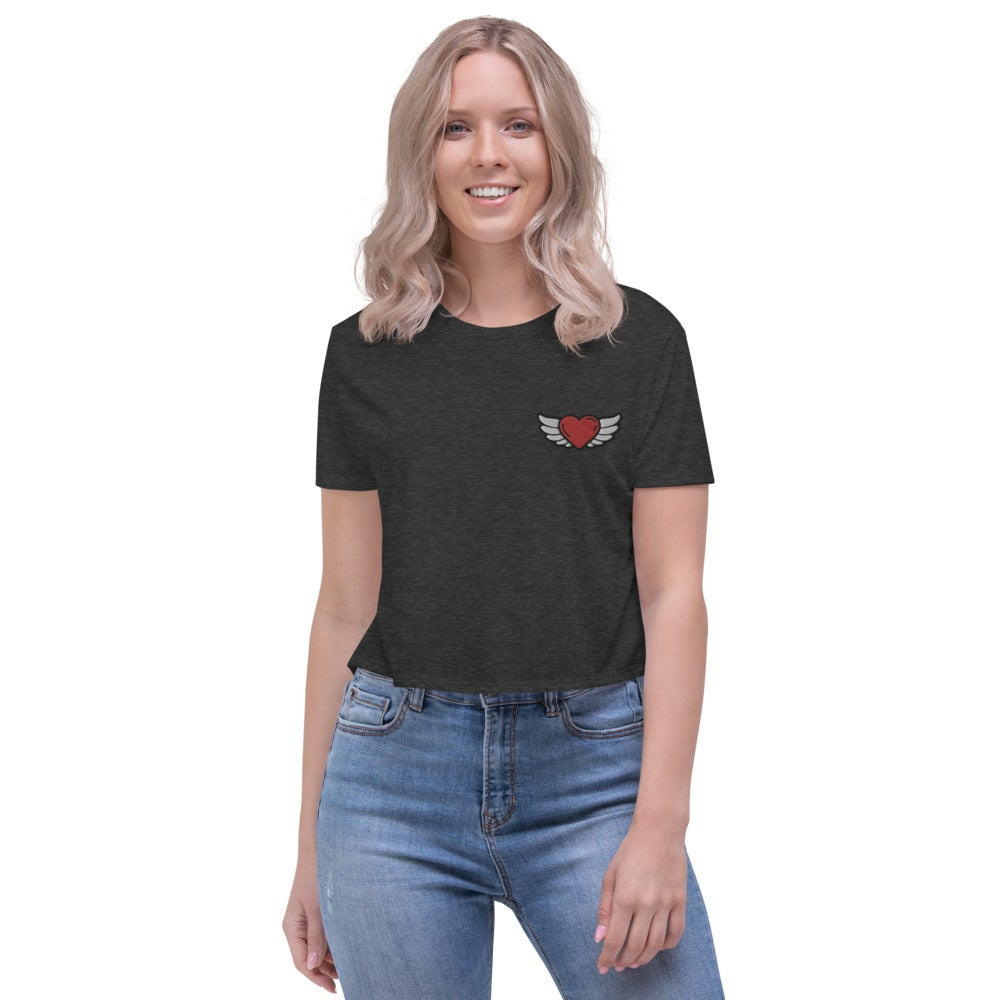 Image of Heart in Flight Crop Tee