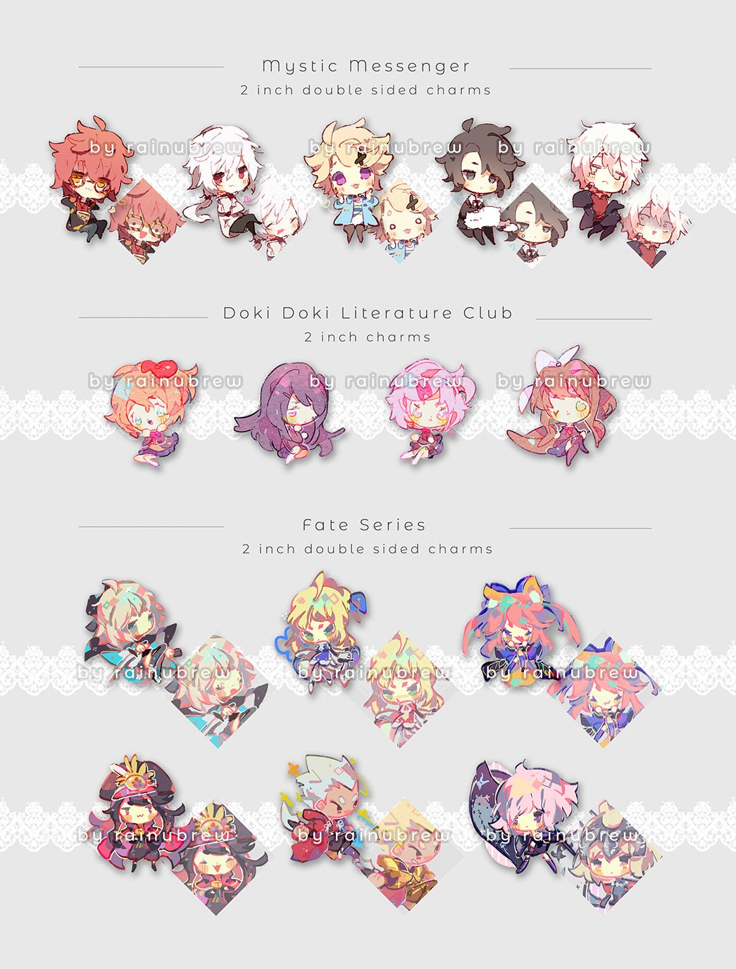 Image of Various Anime Games | 2 inch charms