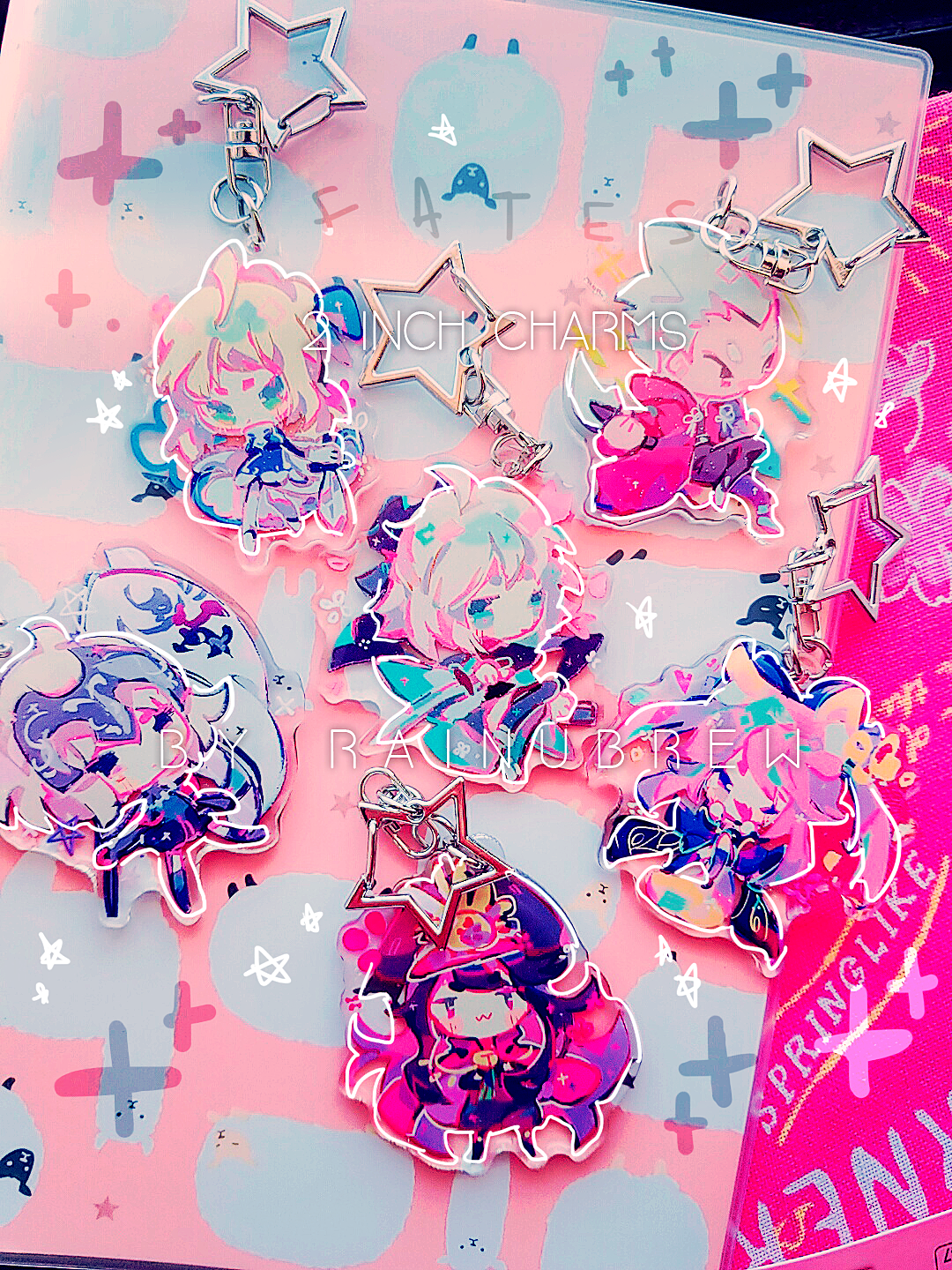 Image of Various Anime Games   2 inch charms