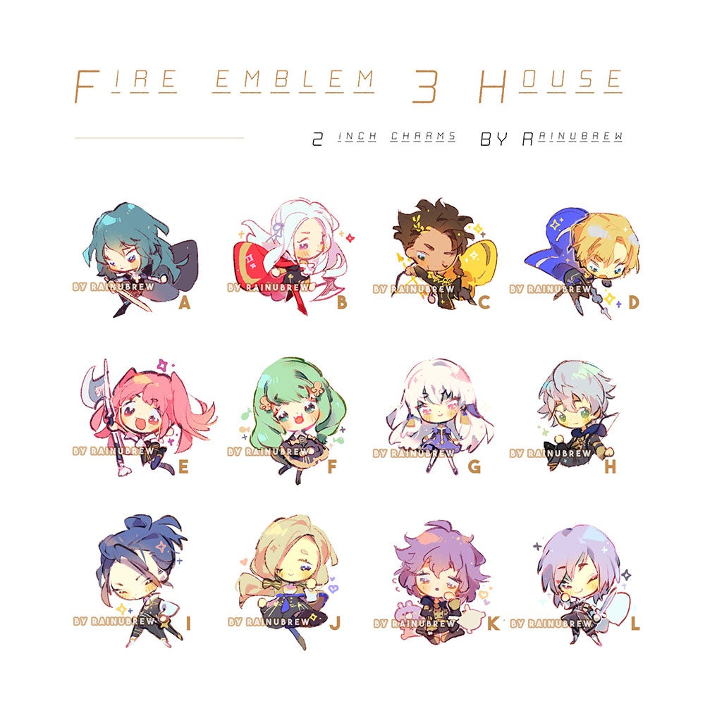 Image of FE3H 2 inch charms