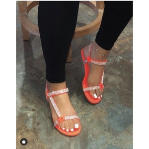 "Image of ""Basically Blinged"" Strap Sandals"