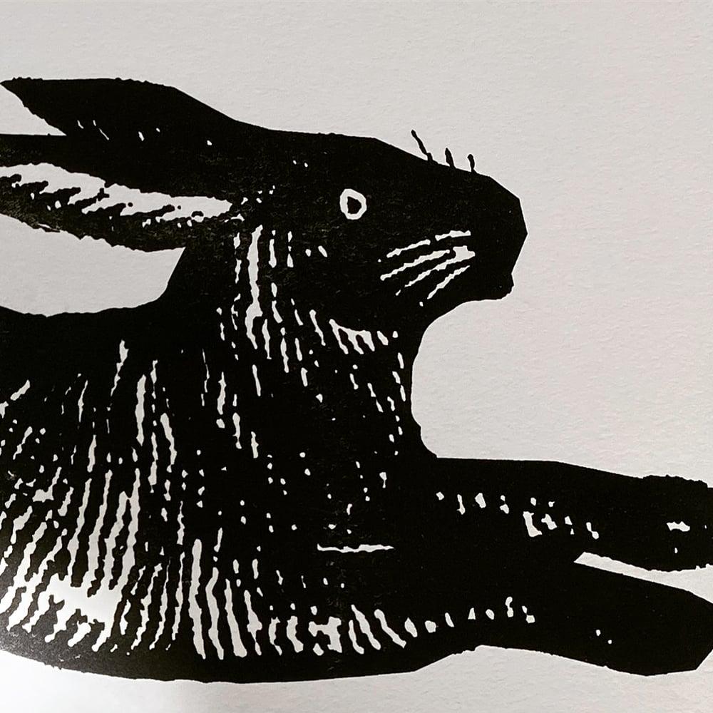 Image of Large Black Rabbit Card