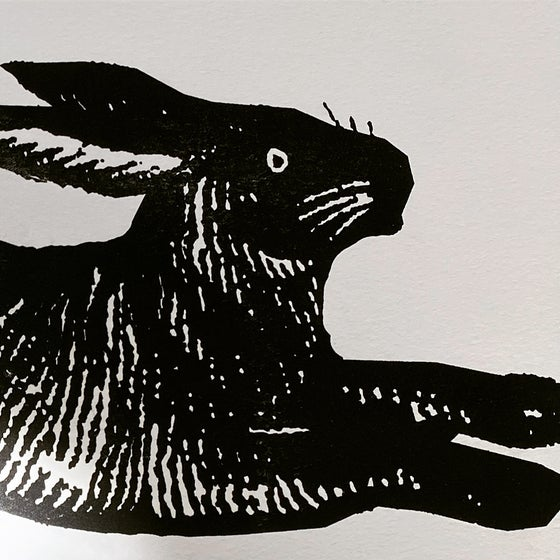 Image of Large Black Rabbit Card