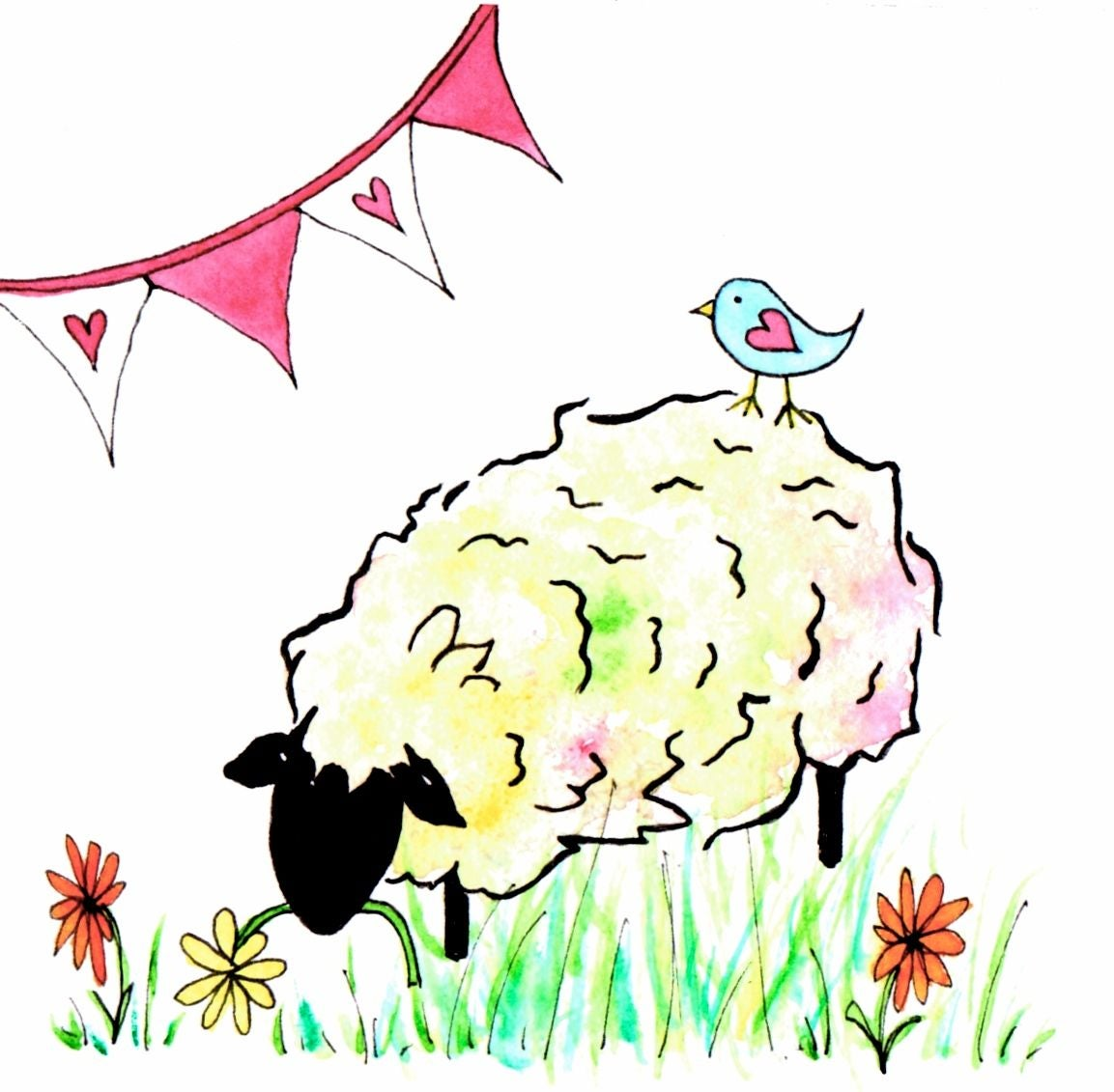Image of Little Lamb Greeting Card