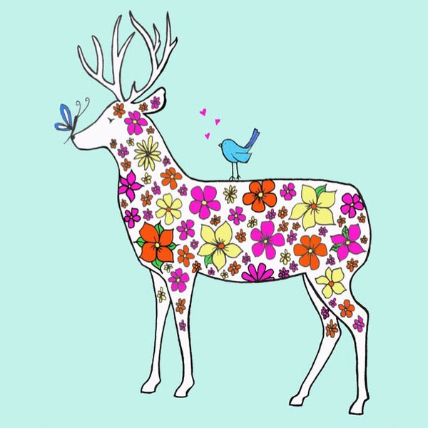 Image of Spring Stag Greeting Card