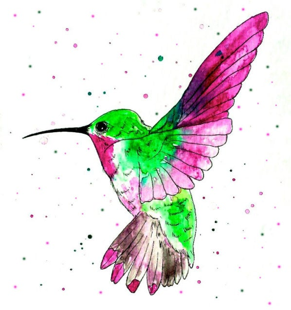 Image of Hummingbird Greeting Card