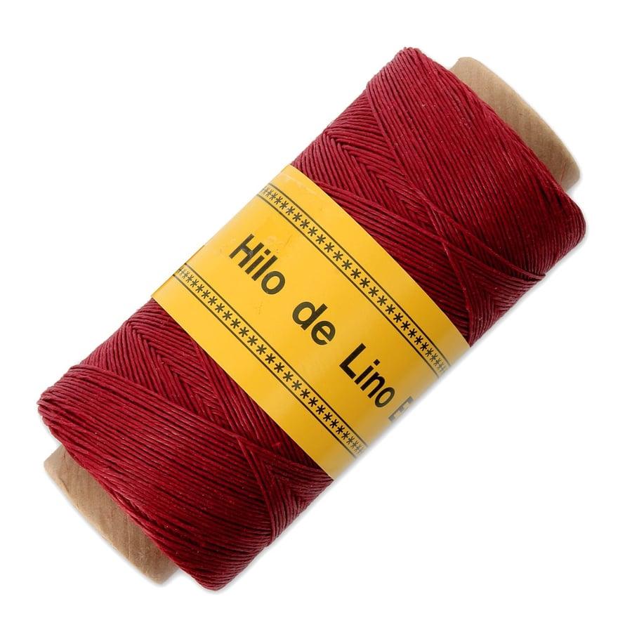 Image of Hilo de lino para Encuadernación rojo - Bookbinding thread red - Precio Especial
