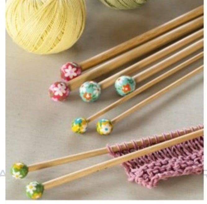Agulhas de tricô em bambu DMC