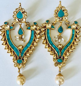 Image of Turquoise with crystal & pearl