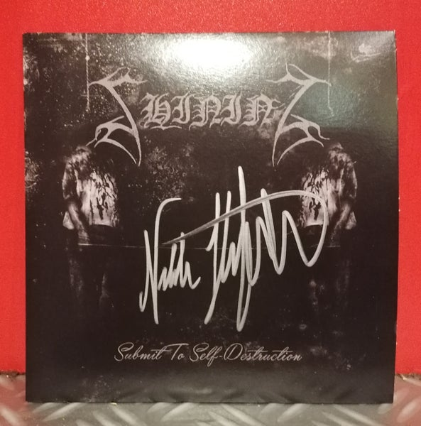"Image of Shining ""Submit To Self-Destruction"" White 7"" (Signed Edition)"