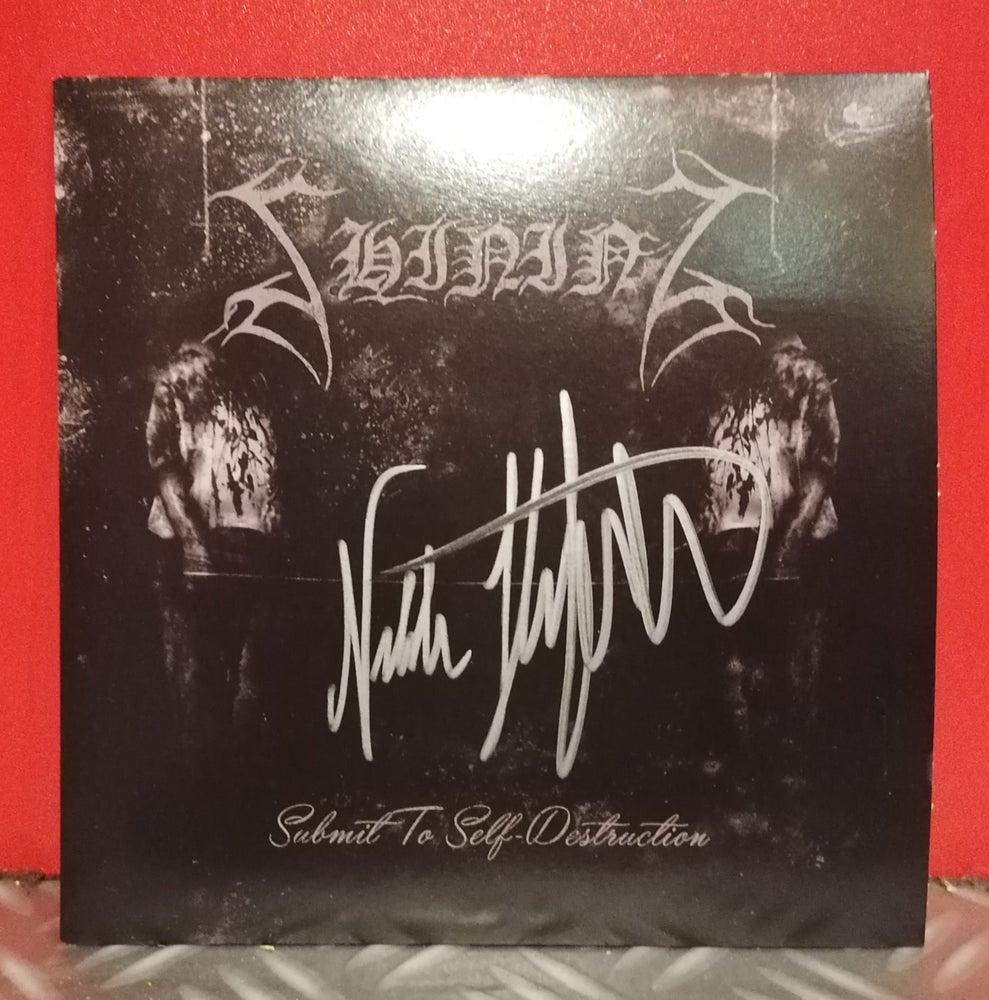 "Image of Shining ""Submit To Self-Destruction"" Purple 7"" (Signed Edition)"