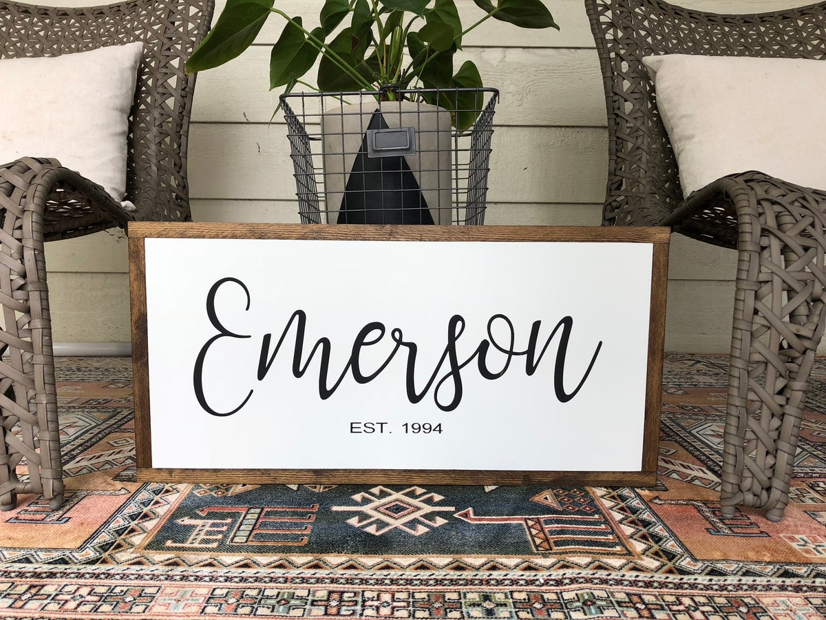 Image of Custom Family EST. Sign