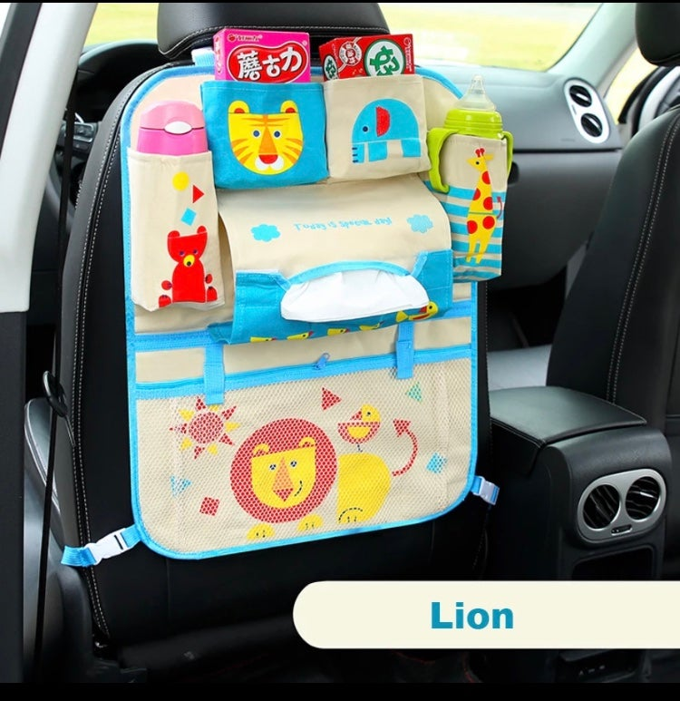 Toddler in-car organizer