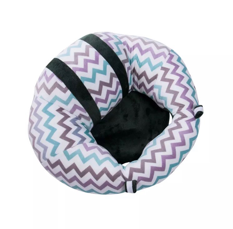 Plush infant support seat
