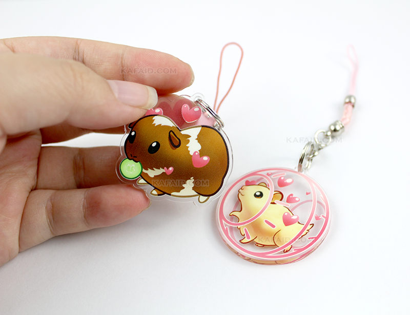 Guinea Pig and Hamster Clear Acrylic Charms
