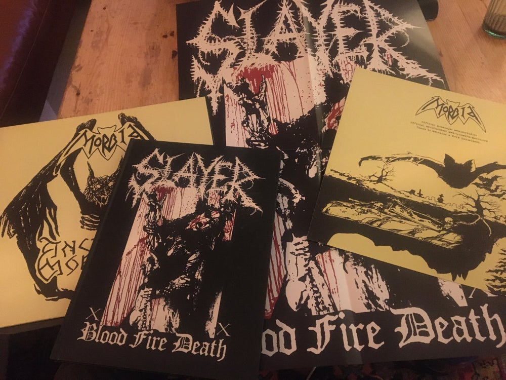 Image of Slayer Mag w/ Morbid 12'' And poster