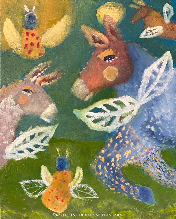 Image of Print [two sizes available] Flying Donkeys and Lady Bugs of Hope