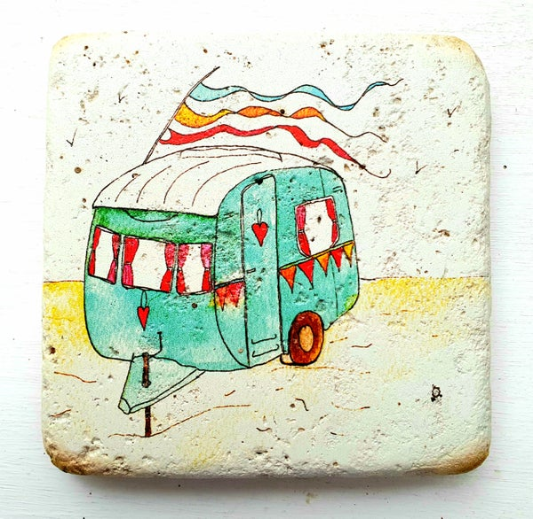 Image of Vintage Caravan Stone Coaster