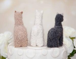 Alpaca Farmhouse Decorative Tiered Tray Decor for Llama Lovers -  Customized w/Charm - Real Fiber