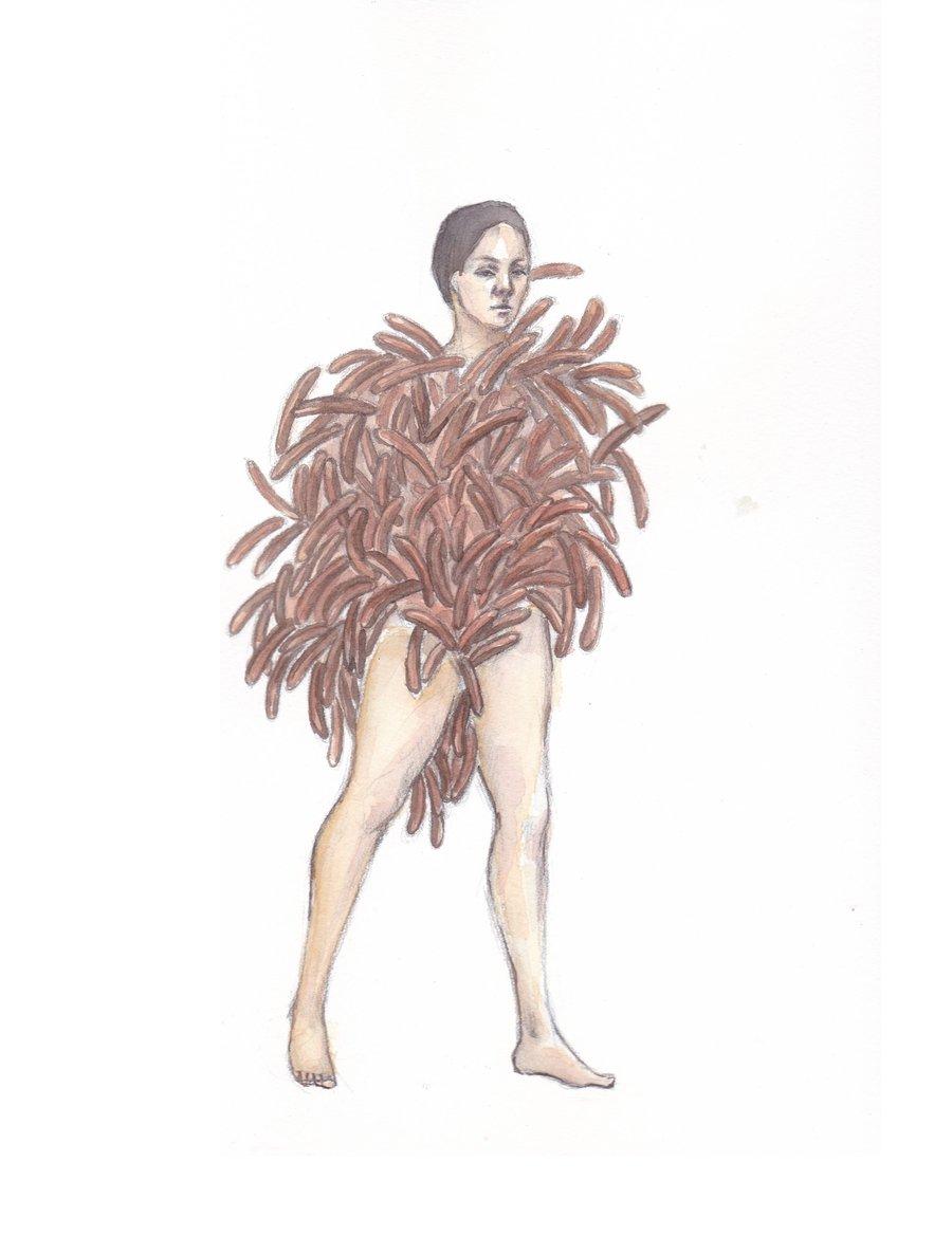 Image of Drawing 'Sausage man' (2019)