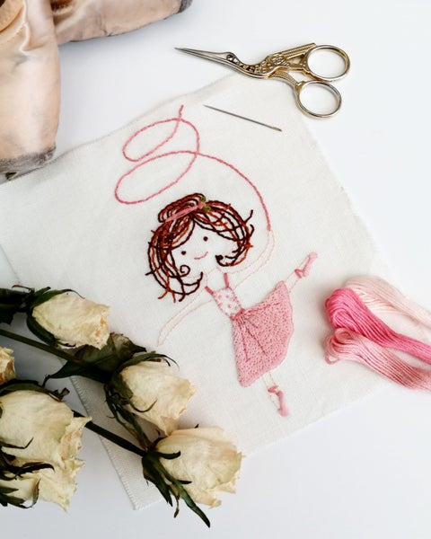 Image of Ballerina Hand Embroidery - PDF Pattern