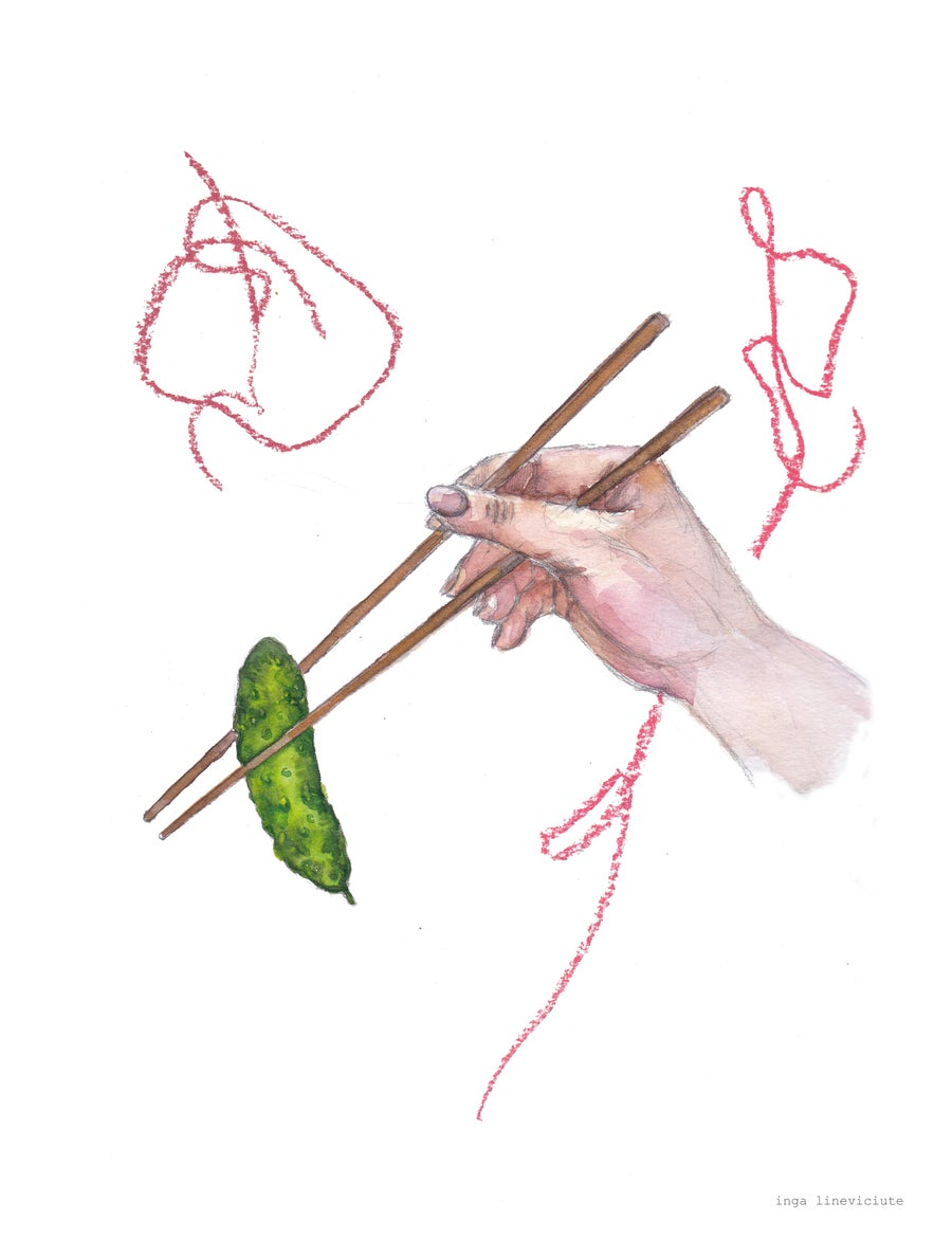 Image of Drawing 'A Pickle' (2020)