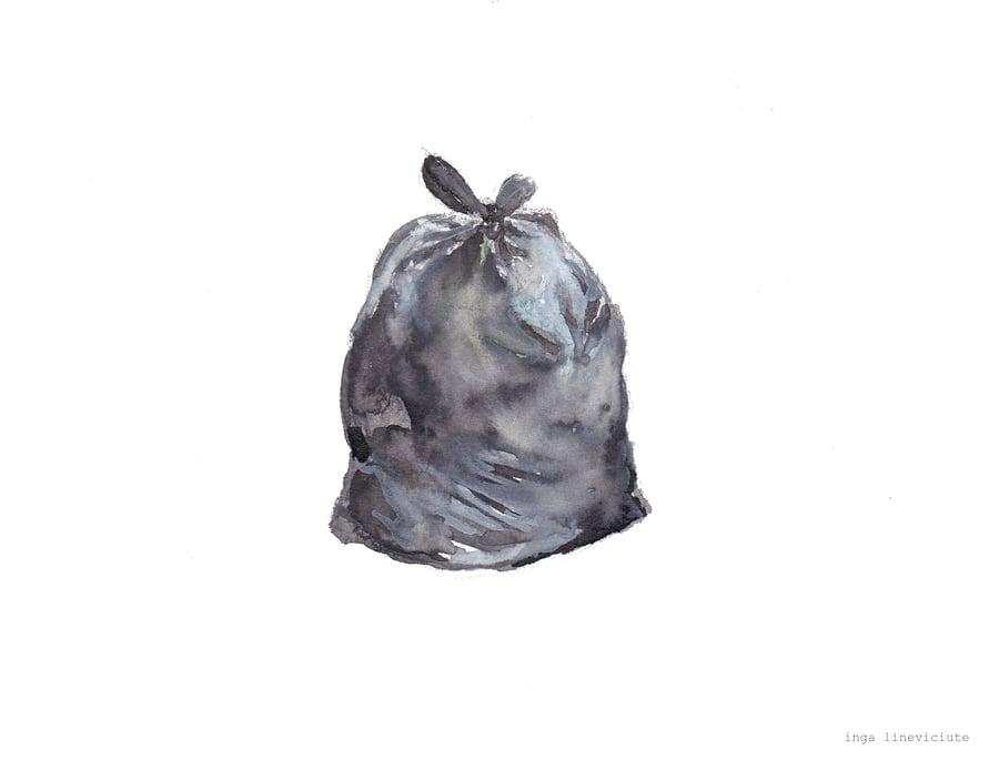 Image of Drawing 'Rubbish bag' (2020)