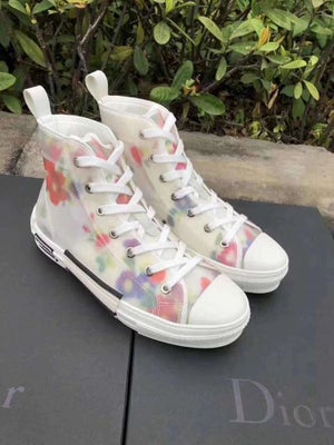 Image of Dior Floral High Sneakers