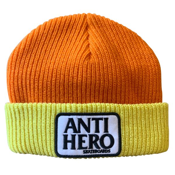 Image of Antihero Reserve Patch Beanie - Orange / Yellow