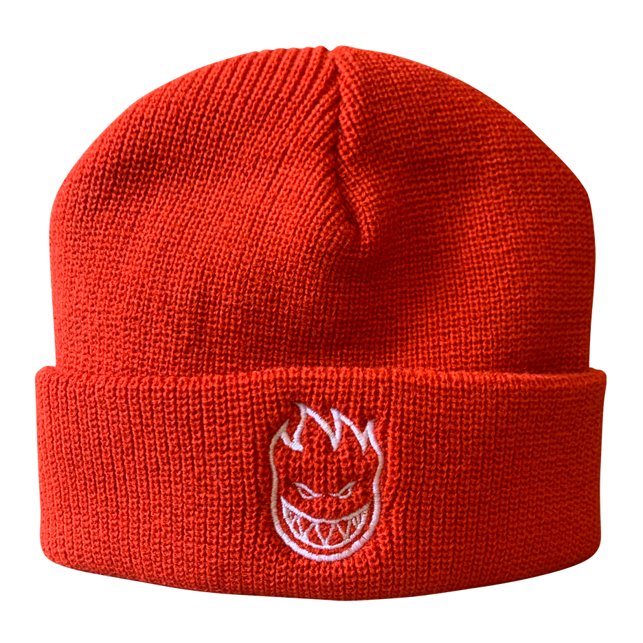 Image of Spitfire Bighead Embroidered Beanie - Red / White