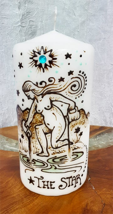 Image of 4 x 6  The Star Henna Candle