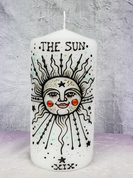 Image of 4 x 6 The Sun Henna Candle