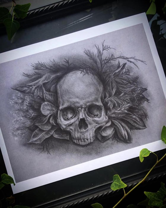 Image of *NEW* 2020* Skull Bouquet 1 Print