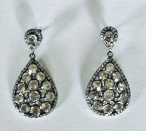 Image of White topaz earrings