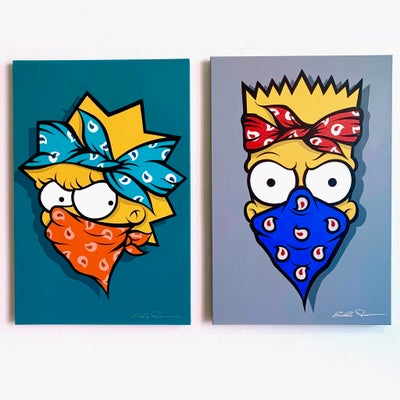 Image of THE SIMPSONS COLLECTION (ORIGINALS/ HAND PAINTED) BART/LISA