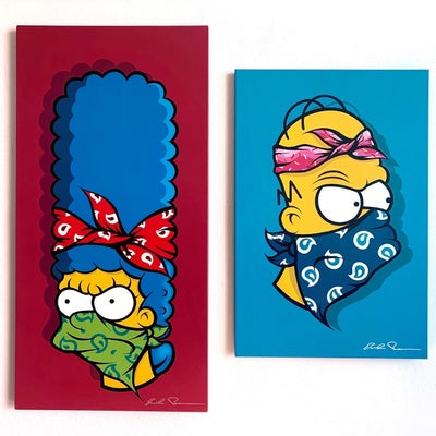 Image of THE SIMPSONS COLLECTION (ORIGINALS/ HAND PAINTED) HOMER/ MARGE