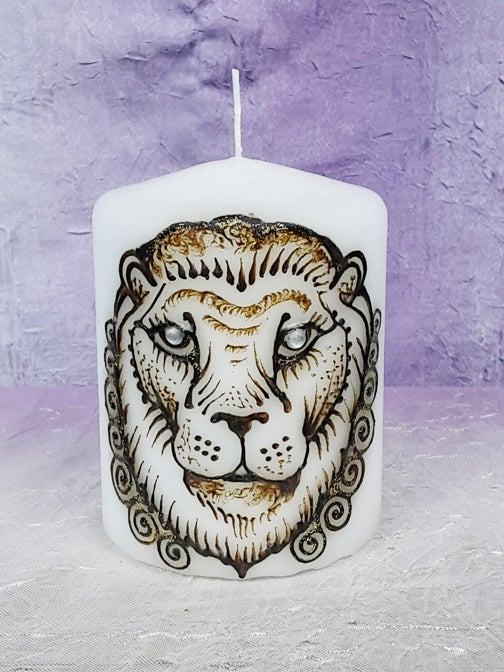 Image of 4 x 6 Lion Henna Candle