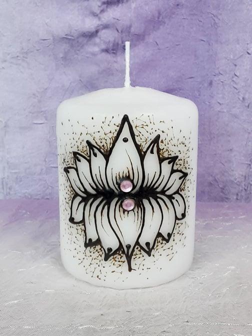 Image of 4 x 6 Double Lotus Henna Candle