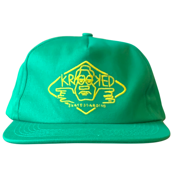 Image of Krooked Arketype Snapback - Green