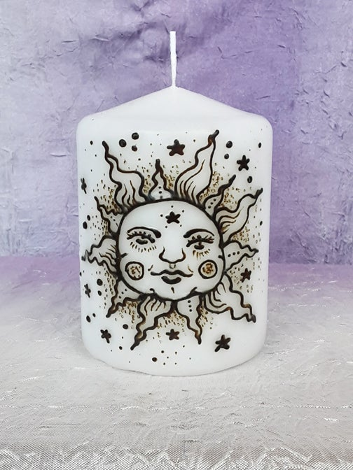 Image of 3 x 4 The Sun Henna Candle