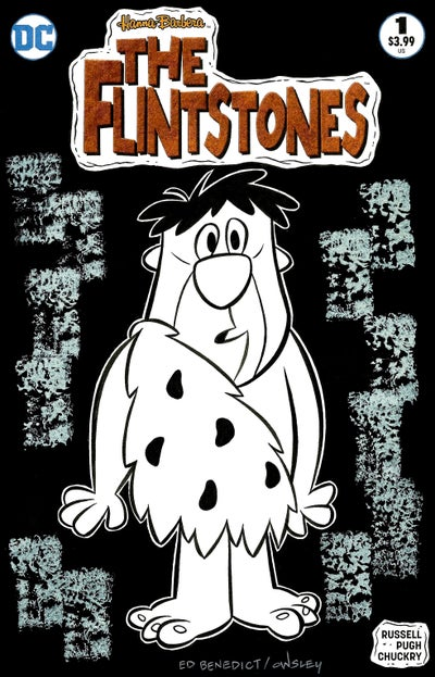 Image of FRED FLINTSTONE! THE FLINTSTONES ORIGINAL ART SKETCH COVER! ED BENEDICT TRIBUTE!