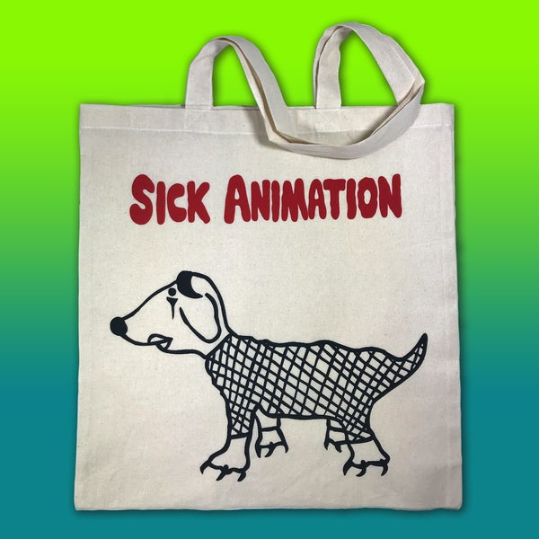 Goth Dog tote bag - Sick Animation Shop